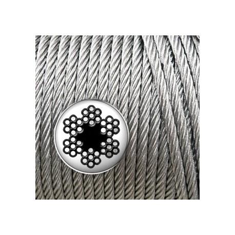 Cable de acero galvanizado 4mm (100m)