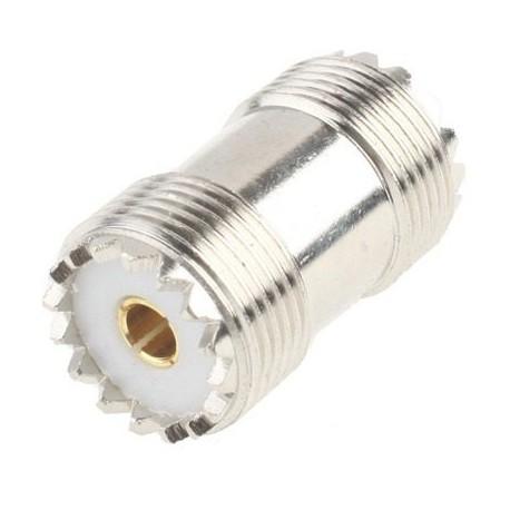 Adaptador UHF hembra - hembra
